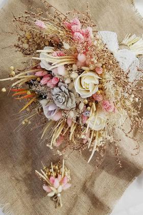 Yapay Çiçek Deposu - Gelin Buketi Elsa 2li Set