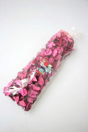 Yapay Çiçek Deposu - 400 Adet Kokulu Gerçek Gül Yaprağı Fuşya
