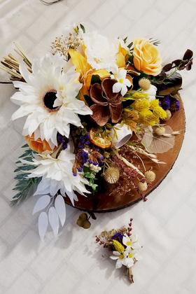 Yapay Çiçek Deposu - Exclusive Serisi Luana Gelin Buketi 2li Set