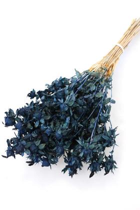 Yapay Çiçek Deposu - Kuru Çiçek Kartamus Mavi