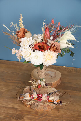 Yapay Çiçek Deposu - Gelin Buketi Figor 3lü Set