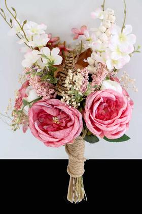 Yapay Çiçek Deposu - Gelin Buketi Gelin Çiçeği Saraylı