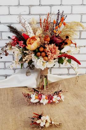 Yapay Çiçek Deposu - Exclusive Serisi Clarinda Gelin Çiçeği 3lü Set