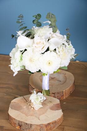 Yapay Çiçek Deposu - Gelin Buketi Seramoni 2li Set