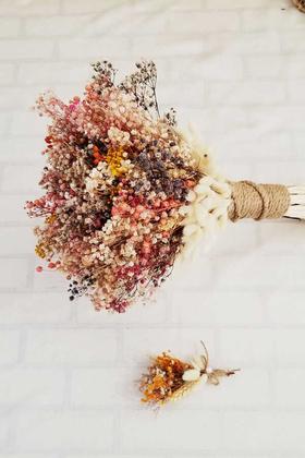Yapay Çiçek Deposu - Gelin Buketi Gracia 2li Set