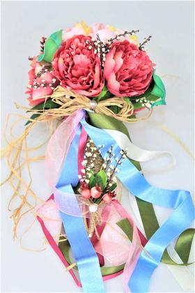 Gelin Çiçeği Alenzia 2li Set (Gelin Buketi, Yaka Çiçeği) - Thumbnail