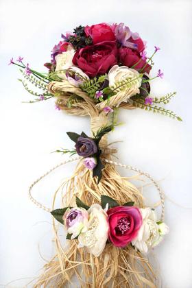 Yapay Çiçek Deposu - Gelin Çiçeği Tohumlu İpek Erengüller 3lü set