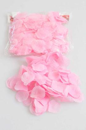 Yapay Çiçek Deposu - 50 gr Adet Kumaş Gül Yaprağı Açık Pembe