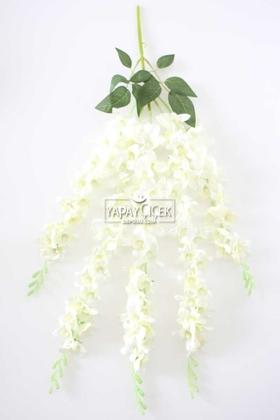 Yapay Çiçek Deposu - Yapay Çiçek Sarkan Begonvil Çiçeği 60 cm Kırık Beyaz