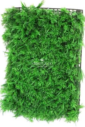 Yapay Çiçek Deposu - Yapay Bitki Model Duvar Kaplaması 40x60 cm Yeşil