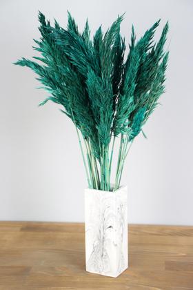 Yapay Çiçek Deposu - İnce Vazoda Kuru Pampas Demeti 50 cm Yeşil
