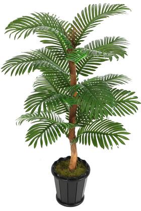 Yapay Çiçek Deposu - Kokos Gövdeli Yapay Areka Palmiyesi 16 Yapraklı 150 cm