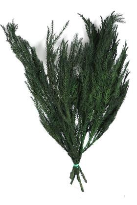 Yapay Çiçek Deposu - İspanyol Gryptomeria Şoklanmış Çam Demeti 55 cm Yeşil