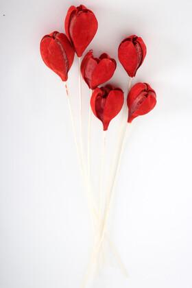 Yapay Çiçek Deposu - İspanyol Tropikal Rosa Tefe Kırmızı