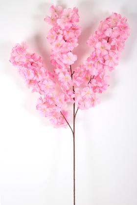Yapay Çiçek Deposu - Yapay Kaliteli Kabarık Bahar Dalı 95 cm Pembe
