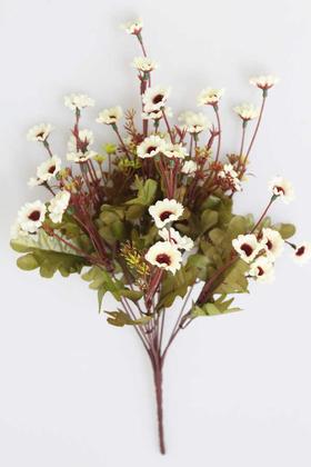 Yapay Çiçek Deposu - Yapay Cipsolu 10 Dal Papatya Demeti Beyaz