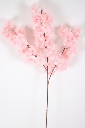 Yapay Çiçek Deposu - Yapay Kaliteli Kabarık Bahar Dalı 95 cm Açık Pembe