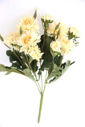 Yapay Çiçek Deposu - Lüx Kasımpatı Demeti 33 cm Krem