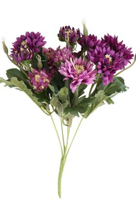 Yapay Çiçek Deposu - Lüx Kasımpatı Demeti 33 cm Mor
