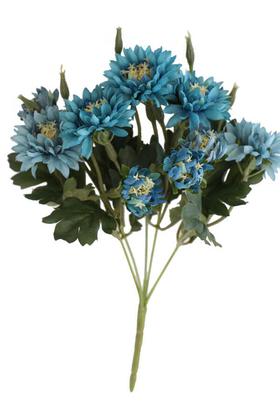 Yapay Çiçek Deposu - Lüx Kasımpatı Demeti 33 cm Mavi