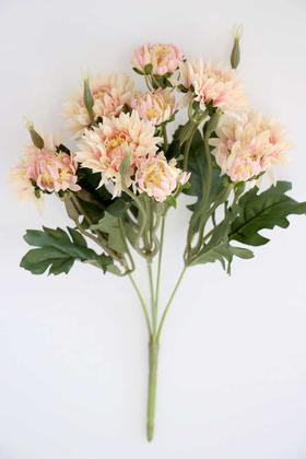 Yapay Çiçek Deposu - Lüx Kasımpatı Demeti 33 cm Somon