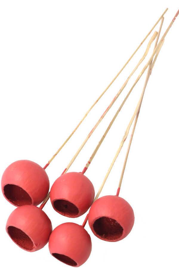 Dekoratif Bell Cup 5li Tropic Kabak Kırmızı
