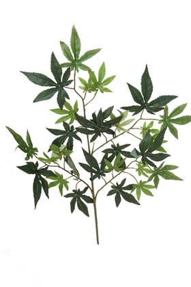 Yapay Çiçek Deposu - Yapay Çınar Ağacı Dalı 70 cm Koyu Yeşil