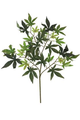Yapay Çiçek Deposu - Yapay Çınar Ağacı Dalı 60cm 28 Yapraklı Yeşil