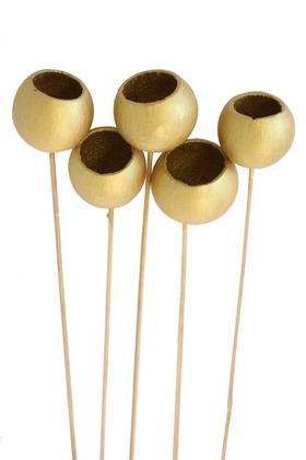 Yapay Çiçek Deposu - Dekoratif Bell Cup 5li Tropic Kabak Bronz