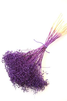 Yapay Çiçek Deposu - Kuru Çiçek Cipso Demeti Mor