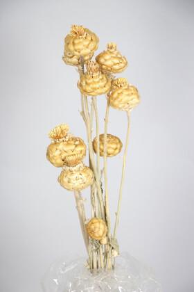 Yapay Çiçek Deposu - Kuru Çiçek Padişah Gülü 40 cm