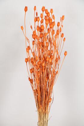 Yapay Çiçek Deposu - Kuru Çiçek Vazo Çiçeği 55 cm Turuncu