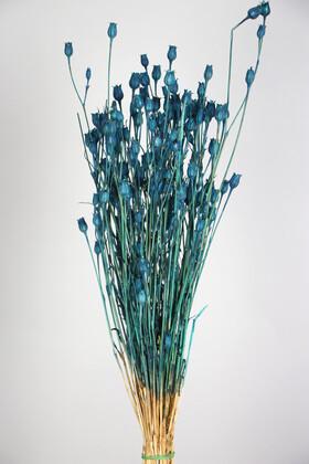 Yapay Çiçek Deposu - Kuru Çiçek Vazo Çiçeği 55 cm Mavi