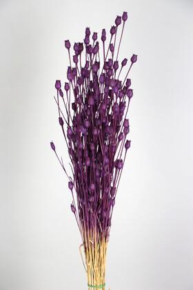 Yapay Çiçek Deposu - Kuru Çiçek Vazo Çiçeği 55 cm Mor