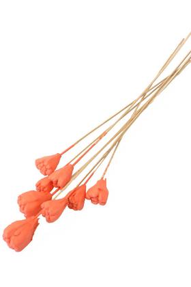Yapay Çiçek Deposu - 8li Tropik Jack Seed Kuru Çiçek Somon
