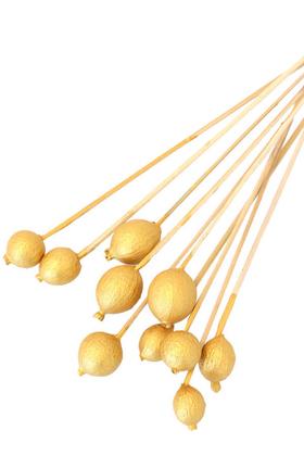 Yapay Çiçek Deposu - 10lu Gauri Fruit On Steam Gold Altın Renk Gold