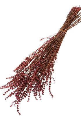 Yapay Çiçek Deposu - Şoklanmış Dökülmeye Dayanıklı Gerçek Lavanta Demeti Fuşya(100 gr)