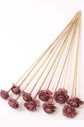 Yapay Çiçek Deposu - Cedar Rose 10lu Demet 45 cm Soft Pembe