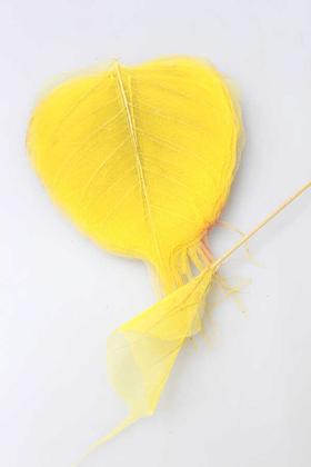 Yapay Çiçek Deposu - 25li Paket Kurutulmuş Skeleton Yaprağı Sarı