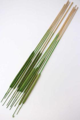 Yapay Çiçek Deposu - Kuru Dal İnce Sosis Kamış Spadix 70cm Çimen Yeşili 10lu(Kadife Kaplama)