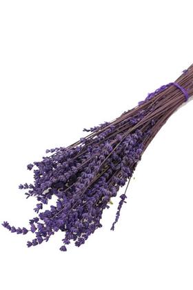 Yapay Çiçek Deposu - Kuru Çiçek Gerçek Lavanta Demeti(80 gr) Koyu Mor