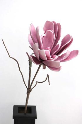 Yapay Çiçek Deposu - Exclusive Tropik İri Çiçekli Egzotik Lateks Dal 105 cm Pembe