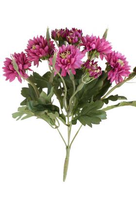 Yapay Çiçek Deposu - Lüx Kasımpatı Demeti 33 cm Pembe