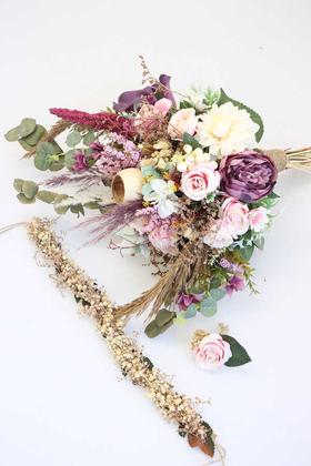 Yapay Çiçek Deposu - Gelin Çiçeği Mahatma 3lü set