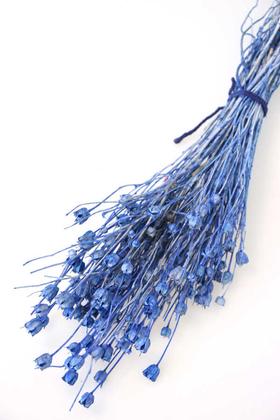 Yapay Çiçek Deposu - Kuru Çiçek Nigella Bitkisi Demeti Mavi