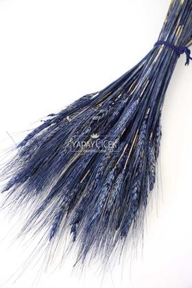 Yapay Çiçek Deposu - Kuru Başak Demeti Deniz Mavisi