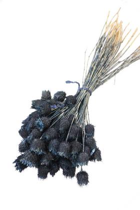 Yapay Çiçek Deposu - Kuru Çiçek Dikenli Çilek Demeti Mavi