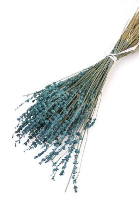 Yapay Çiçek Deposu - Kuru Çiçek Gerçek Lavanta Demeti(80 gr) Petrol Mavi