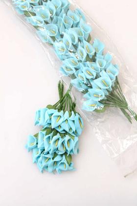 Yapay Çiçek Deposu - 144lü Mini Lateks Gala Mavi