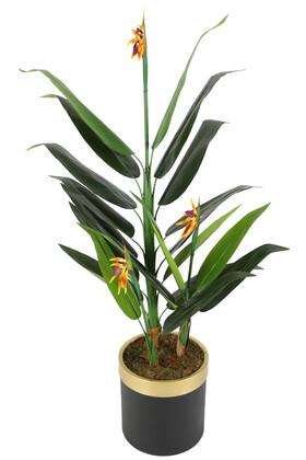 Yapay Çiçek Deposu - Metal Saksıda Yapay Çiçekli Starliçe Ağacı 160 cm